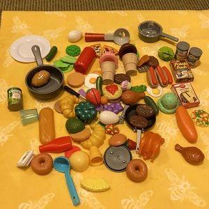 Variety of play food